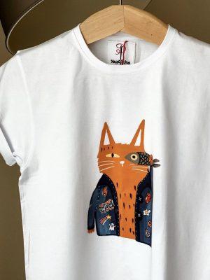 gangsta cat print